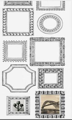 lé de papier peint unique trompe l'oeil effet cadre photo deco pour salon, couloir ou chambre