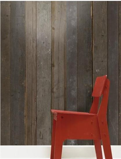 papier peint trompe l oeil imitation bois. Black Bedroom Furniture Sets. Home Design Ideas