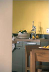 choisir couleurs peinture pour murs cuisine dans le nuancier de la gamme équilibre de Tollens