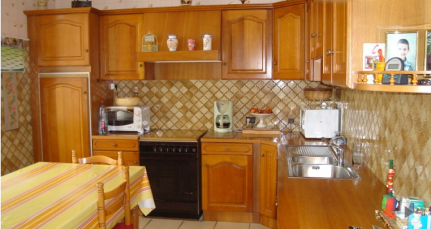 Repeindre des meubles de cuisine en bois deco for Le bon coin table cuisine