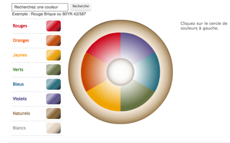 Simulateur peinture et couleur Dulux Valentine. choisir une couleur de peinture parmi les 7 gammes de couleurs