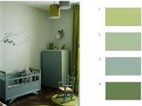 couleur chambre enfant vert pistache et blanc leroy merlin. Black Bedroom Furniture Sets. Home Design Ideas
