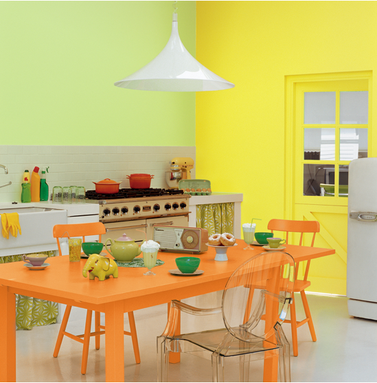 decoration cuisine couleur orange