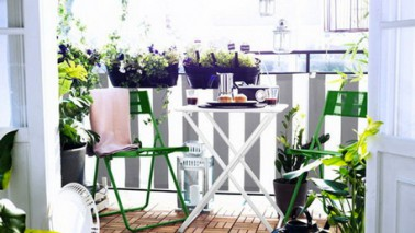 Deco balcon en ville table chaise jardin ikea - Ikea table balcon ...