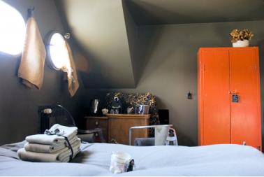 déco chambre orange et gris