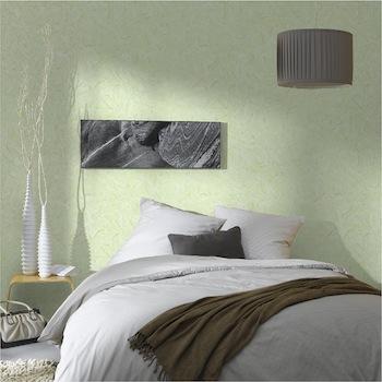 Deco chambre zen vert gris for Papier peint chambre adulte zen
