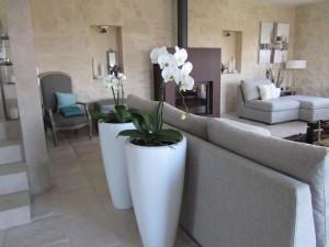 D coration salon couleur lin et peinture couleur naturelle ambiance dec zen - Idee deco salon ambiance zen ...