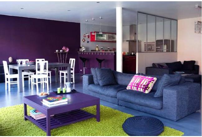 Delimiter l espace d un salon avec un tapis couleur vert for Salon espace vert lyon