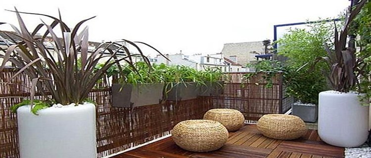 Id es d co pour un balcon ou une terrasse intime for Deco appartement zen