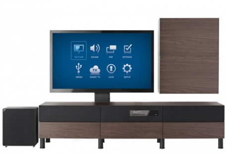 ikea sort le meuble tv avec t l vision int gr e. Black Bedroom Furniture Sets. Home Design Ideas