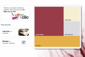 simulateur couleur Dulux Valentine. Imprimer l'harmonie de couleurs peinture sélectionnée depuis le nuancier peinture interactif