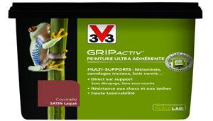 peinture gripactiv v33 peindre meuble et carrelage sans poncer. Black Bedroom Furniture Sets. Home Design Ideas