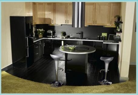 Am nagement petite cuisine 12 id es de cuisine ouverte - Ilot dans petite cuisine ...