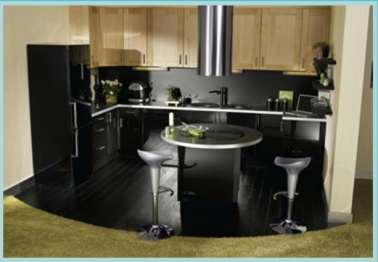 plan cuisine en u avec ilot de cuisson. Black Bedroom Furniture Sets. Home Design Ideas