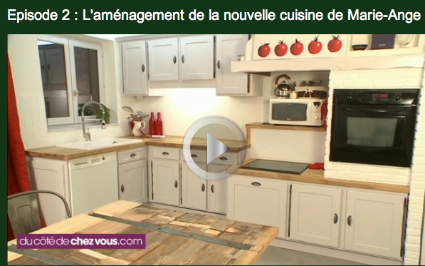 Renovation cuisine rustique video leroy merlin for Idee renovation cuisine rustique