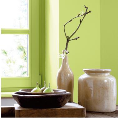 Tendance couleur peinture le vert amande peinture ripolin for Peinture chambre vert amande