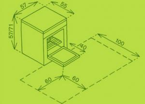 pour aménager une petite cuisine,commencer par calculer espace disponible lorsque la porte du lave-vaisselle ou du four est ouverte