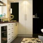 amenager une petite cuisine ou une cuisine ouverte sur le salon, les meubles, l'électroménager, ilot central