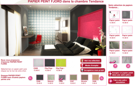 simulateur papier peint pour chambre et salon chantemur. Black Bedroom Furniture Sets. Home Design Ideas