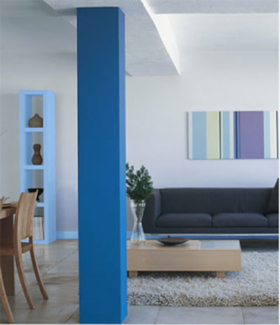 couleur salon le bleu pour le salon on dit oui d co. Black Bedroom Furniture Sets. Home Design Ideas