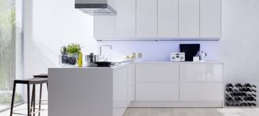 Meubles de cuisine laqu blanc siematic collection smart design - Cuisine meuble blanc ...