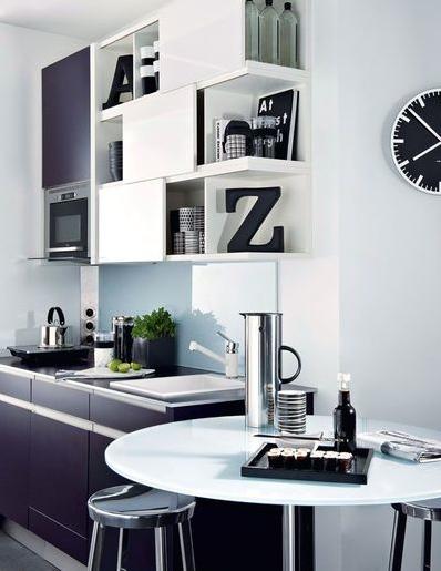 Aménagement Petite Cuisine Idées De Cuisine Ouverte - Meuble haut cuisine 3 portes pour idees de deco de cuisine