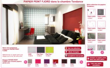 choisir la couleur du papier peint pour chaque mur de la chambre