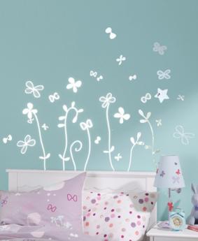 sticker sympa pour la chambre de bebe et plus grands With affiche chambre bébé avec pot de fleur 80 cm de hauteur