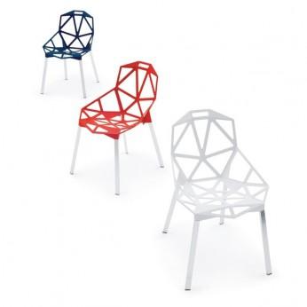 """chaise """"one"""" konstantin grcic coloris noir, rouge, gris"""