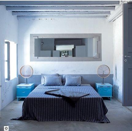 16 d co de chambre grise pour une ambiance zen deco cool for Deco chambre adulte bleu