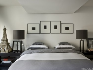 d coration chambre zen nuance gris blanc noir. Black Bedroom Furniture Sets. Home Design Ideas