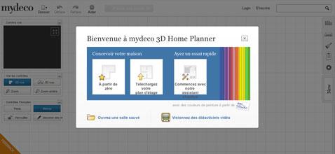 logiciel deco mydeco de google chrome commencer par choisir le plan de la pièce a decorer ou partir des plans existant de la maison