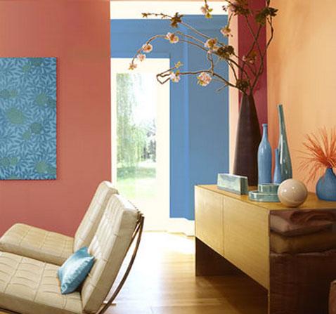 separer salle a manger et salon avec la couleur de peinture murale