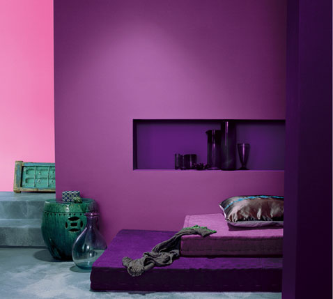 couleur salon harmonie de violet et mauve. Black Bedroom Furniture Sets. Home Design Ideas