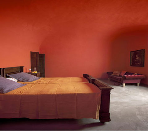 d coration chambre rouge et orange. Black Bedroom Furniture Sets. Home Design Ideas