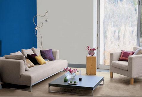 14 id es couleur d co pour associer du gris un bleu - Peinture murale gris perle ...