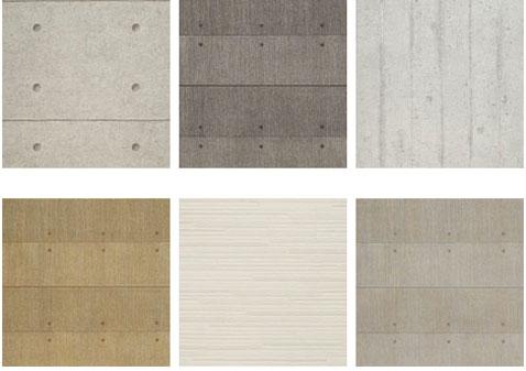 la gamme couleurs des papiers peints imitation beton de la collection murano, beige,ocre,