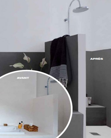 peinture pour salle de bain sp ciale murs et douche. Black Bedroom Furniture Sets. Home Design Ideas