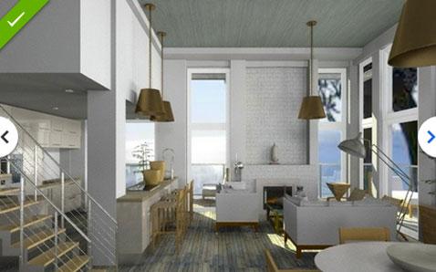 Voir resultat du projet deco salon cuisine en 2d for Voir deco salon