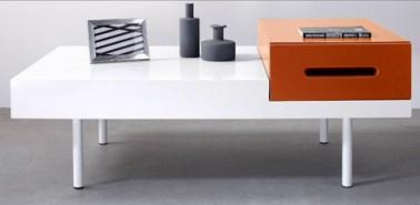 table basse avec caisson tiroir orange kolorcaz 3 suisses. Black Bedroom Furniture Sets. Home Design Ideas