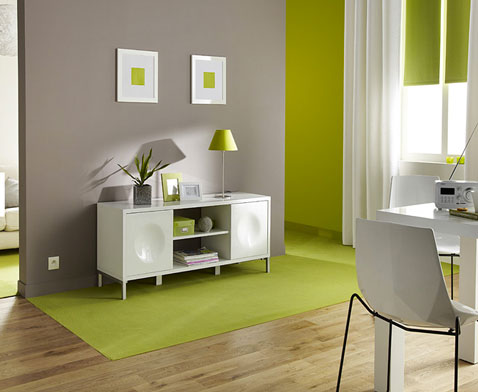 d co salon peinture couleur taupe et vert anis. Black Bedroom Furniture Sets. Home Design Ideas