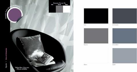 Couleurs decoration harmonie gris noir blanc couleur - Couleur prune et gris ...