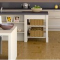 meubles de cuisine couleur lin et taupe