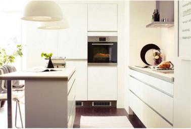 D co cuisine harmonie couleur blanc et taupe cuisine ikea Cuisine blanc et taupe