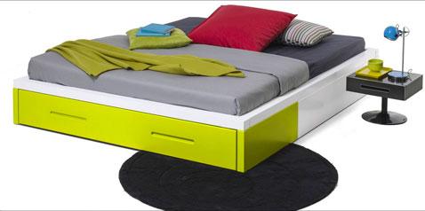Lit futon KOLORCAZ avec tiroir existe en largeur 140 et 160 collection Kolorcaz des 3 Suisses