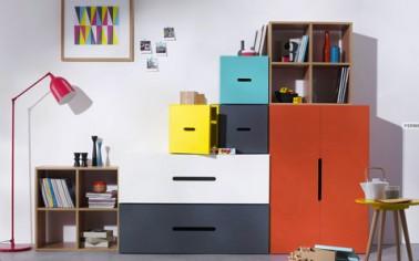 meuble rangement caissons armoire collection kolorcaz. Black Bedroom Furniture Sets. Home Design Ideas