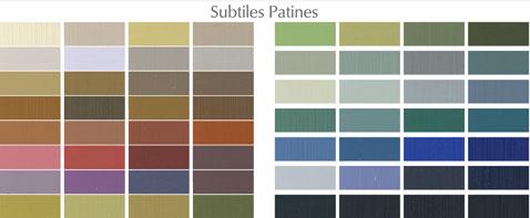 Pour patiner un meuble ou un mur, nuancier de 60 teintes subtiles des peintures patines de Ressource