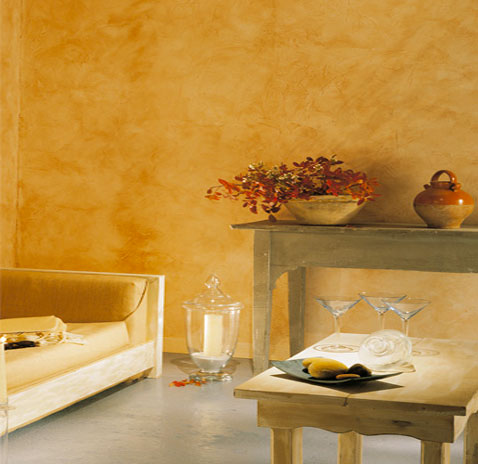 Patine caresse du temps ocre jaune maison d corative for Peinture maison decorative