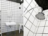 D coration salle de bain en carrelage blanc for Carrelage blanc joint noir