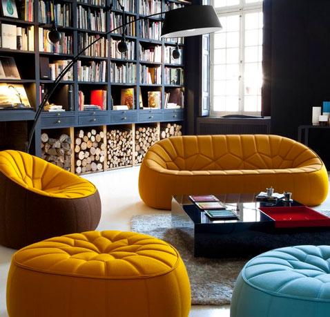 canap lou couleur orange cinna. Black Bedroom Furniture Sets. Home Design Ideas